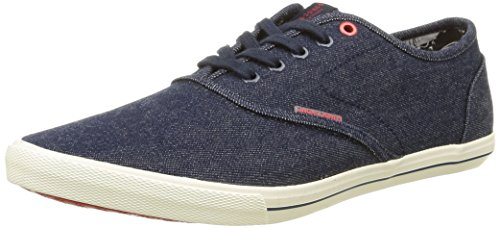 JACK & JONES JJSPIDER CANVAS SNEAKER, Herren Sneakers, Blau (Light Blue Denim), 46 EU (12 Herren UK)
