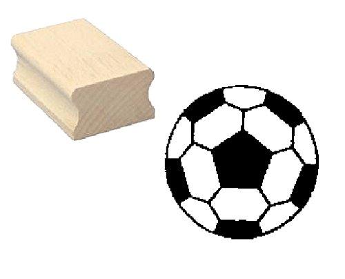 Stempel Holzstempel Motivstempel � FUSSBALL � Scrapbooking - Embossing Fu�ball Ballsport Tor Sport