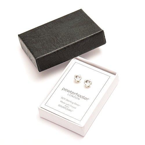 R�umungsverkauf. 925er Sterlingsilber Ohrstecker handgefertigt mit funkelnden Kristall aus SWAROVSKI�.