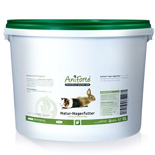 AniForte Natur Nagerfutter 10 Liter u.a. f�r Hamster, Meerschweinchen, Kaninchen, Chinchilla- Naturprodukt f�r Nager