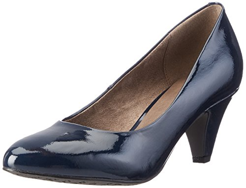 Tamaris Damen 22416 Pumps, Blau (Navy Patent 826), 39 EU