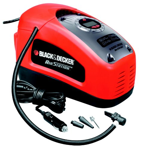 Black + Decker Kompressor, 11 bar / 160 psi, digitale Druckeinstellung, Kabelf�cher, beleuchtete Skala, ASI300