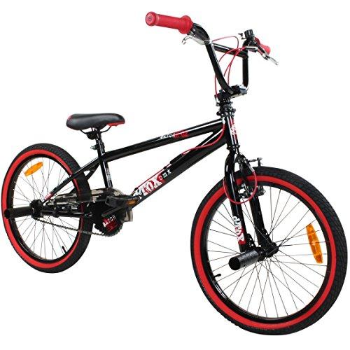 20' BMX deTOX Freestyle Kinder BMX Anf�nger, Farbe:schwarz / rot