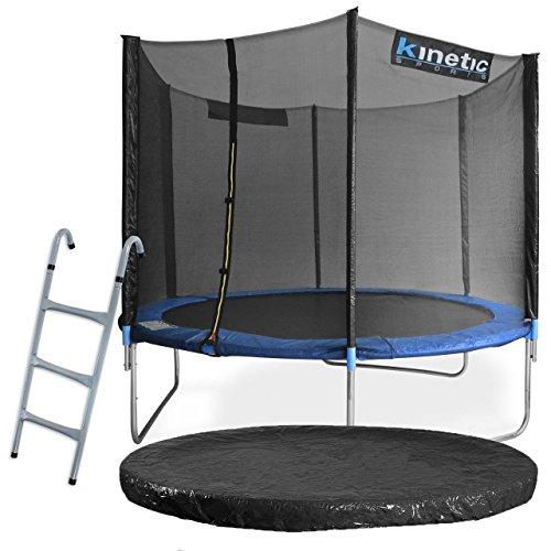 Kinetic Sports Outdoor Gartentrampolin Komplettset � 305 cm Sicherheitsnetz Randabdeckung Leiter Abdeckplane