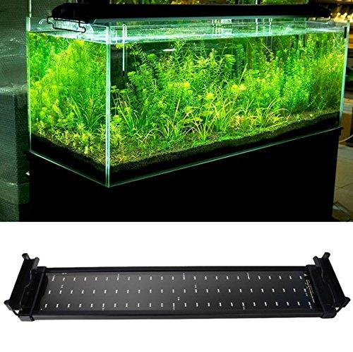 Aquarium Led Lampe Beleuchtung Fische Tank Aquarien Licht (SMD LED 11W 50CM Blau Wei� Licht erweiterbar)