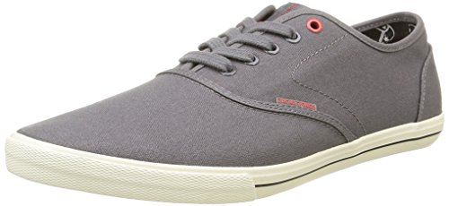 JACK & JONES JJSPIDER CANVAS SNEAKER, Herren Sneakers, Grau (Pewter), 44 EU
