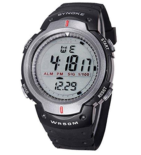 ufengke� m�nner timer schwimmsport laufenden digitalen armbanduhren mit gummiband-grau