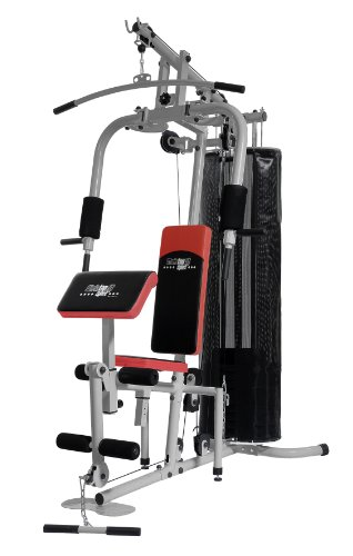 Christopeit Multistation Fitness-Station SP 20 XL, schwarz/wei�/rot, 145 x 115 x 200 cm, 1386