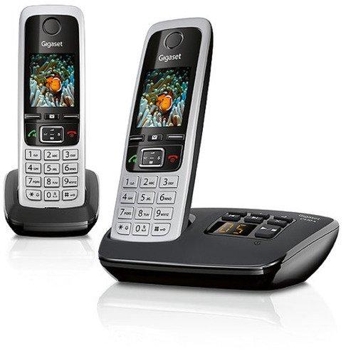 Gigaset C430A Duo Dect - Schnurlostelefon mit Anrufbeantworter (inkl. 1 zus�tzlichen Mobilteil) schwarz