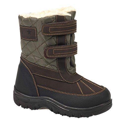 Kinder Fell Schnee Stiefel MOON Mucker Winter Wellingtons Jungen M�dchen Thermalbad Bottine Gr. 8-2, Gr�n - Gr�n - Gel Kaki - Gr��e: 31