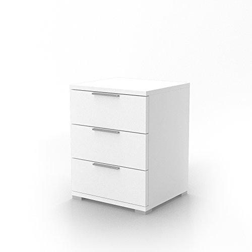 Nachtschrank Kommode Nachttisch Schrank Schublade Ablage Schlafzimmer Florenz Wei�