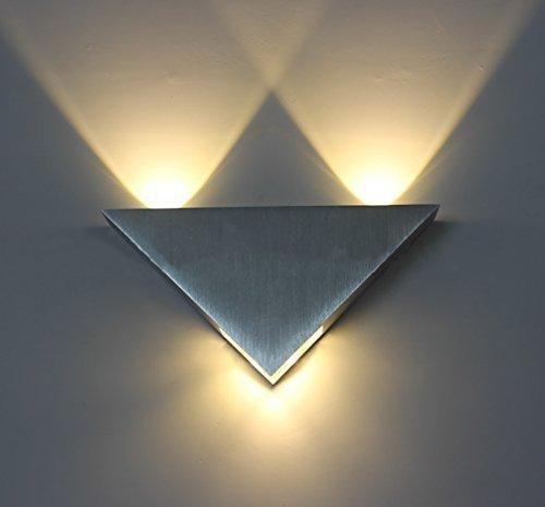Daily Mall Aluminium moderne Wandlampe Wandleuchte 3W LED Treppenbeleuchtung Raumbeleuchtung Hintergrundbeleuchtung Flurlampe Nachttischlampen im Wohnzimmer Treppenhaus Schlafzimmer badzimmer mit der Schrauben B�cherregal Licht Leuchte lampe (Warmwei�)