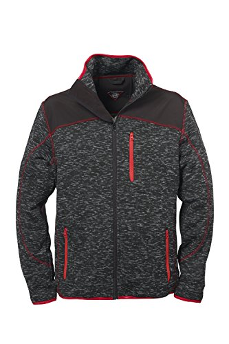 Strick-Jacke Fleece-Jacken f�r Herren von Fifty Five - St. Johns darkgrey L - mit wasserabweisenden Schulterapplikationen aus Softshell