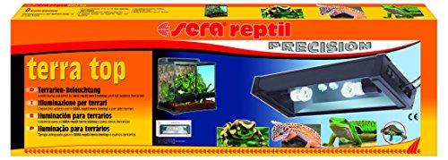 sera 32028 reptil terra top eine Terrarien Aufsatzleuchte mit Tag- und Nachtbeleuchtung