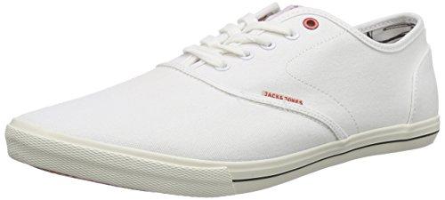 JACK & JONES JJSPIDER CANVAS SNEAKER, Herren Sneakers, Wei� (Bright White), 43 EU