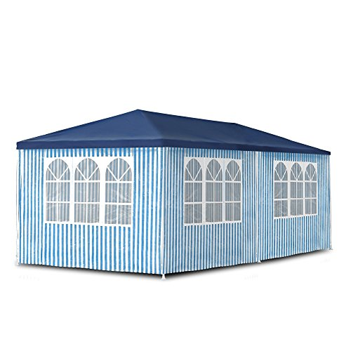 Gartenpavillon 3 x 6 m, Pavillon, Pavillion, Partyzelt, Festzelt, Gartenzelt, mit 6 Seitenw�nden 110G PE