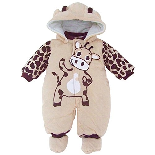 Baby-Kostum M�dchen Overall Kleidung Overall mit Kapuze Beige 0-3 Monats