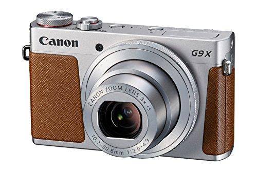 Canon PowerShot G9 X Digitalkamera (20,2 Megapixel, 7,5 cm (3 Zoll) Display, WLAN, NFC, Image Sync, 1080p, Full HD) silber
