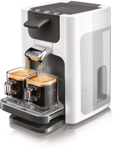 Senseo HD7863/10 Quadrante Kaffeepadmaschine (XL-Wassertank) schwarz/wei�