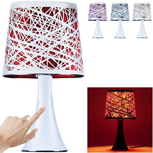 Touchlamp Ber�hrungsleuchte Tischleuchte Nachttischlampe mit Metallfu� 31cm Silber