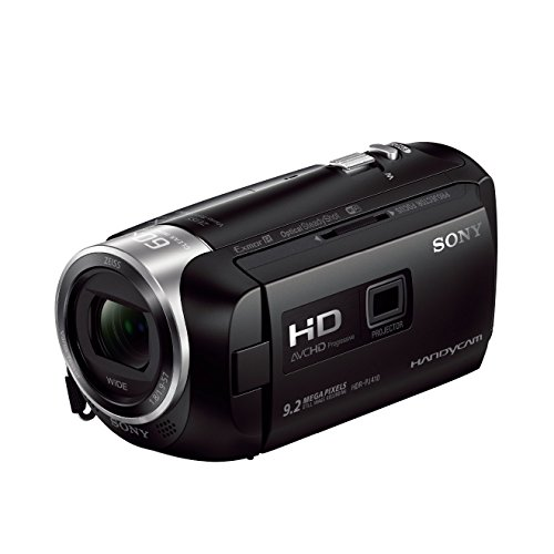 Sony HDR-PJ410 Full HD Camcorder (30-fach opt. Zoom, 60x Klarbild-Zoom, Weitwinkel mit 26,8 mm, Optical Steady Shot) schwarz
