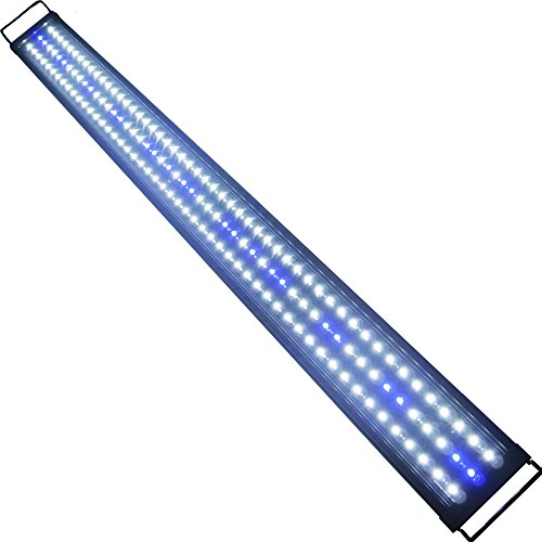 Aquarien Eco LED Aquarium Fische Tank Beleuchtung Aufsetzleuchte Blau Wei� Aquairum Abdeckung 125-140CM (120cm 33W)A060