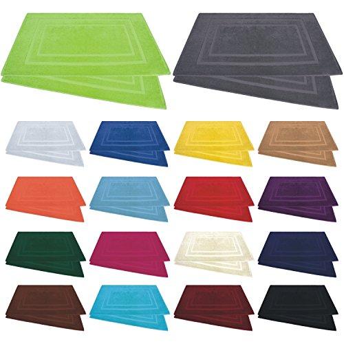 Badvorleger / Badematten / Badteppich - 2er Pack - Baumwolle 800g/m� - 50x80 cm - Farbe Rot