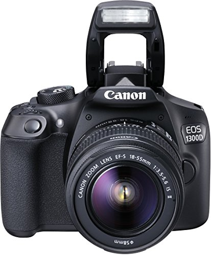 Canon EOS 1300D Digitale Spiegelreflexkamera (18 Megapixel, APS-C CMOS-Sensor, WLAN mit NFC, Full-HD) Kit inkl. EF-S 18-55mm IS Objektiv