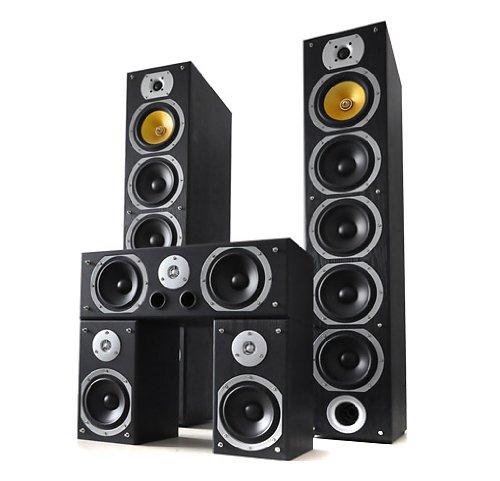 Beng V9B Standlautsprecher Komplettset , 5 St�ck insg. 1240W (2 Standlautsprecher +Center + Rear Boxen) schwarz