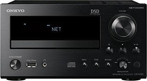 Onkyo CR-N765 (B) Netzwerk HiFi-Mini Receiver (22W/Kanal, CD, Hi-Res Audio, DSD, dlna, Spotify Connect, RDS Radio, iPod/iPhone, USB) schwarz