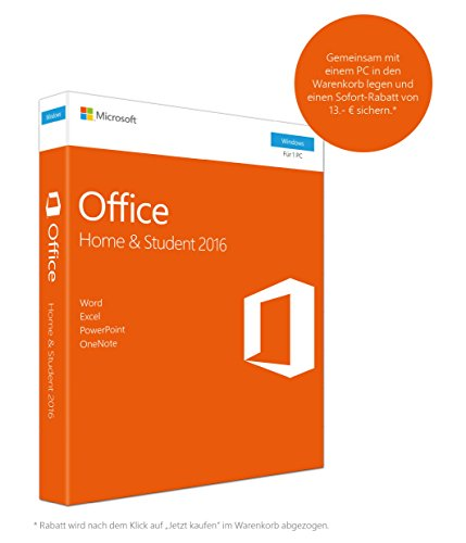 Microsoft Office Home and Student 2016 (Product Key Card ohne Datentr�ger)