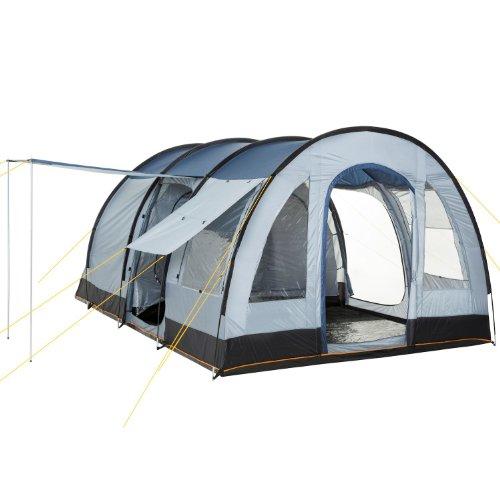 CampFeuer - Gro�es Tunnelzelt, Blau/Grau, 5000 mm Wassers�ule, Campingzelt, Mod. 2015