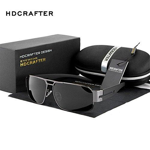 Lnabni Herren Polarisiert Outdoor Sports Sonnenbrille Fahren Brillen 100% UV-Schutz ( Gun )