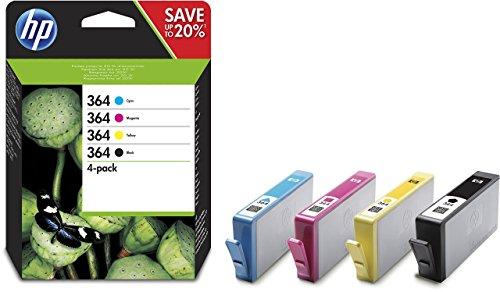 HP 364 Multipack Original Druckerpatronen (Schwarz, Rot, Blau, Gelb) f�r HP Deskjet, HP Officejet, HP Photosmart