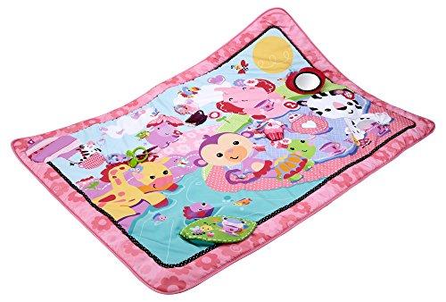 Fisher-Price BFL58 Gro�e Spiel- und Krabbeldecke mit Tiermotiven und Babyspielzeug, 1 x 1.50 m, rosa