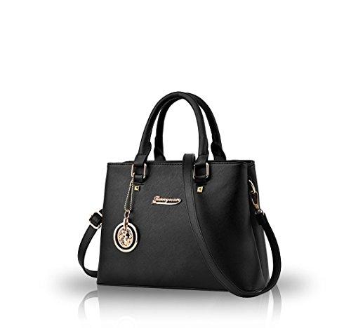 Nicole&Doris 2016 Modetrend Handtaschen Schulter diagonal Tasche beil�ufige Handtaschen Frauen Handtasche(Black)