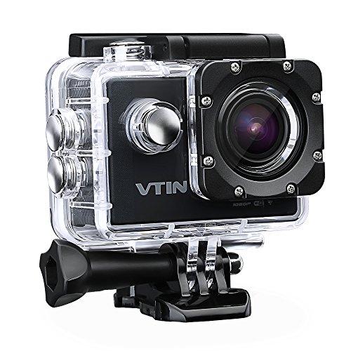 Action Kamera WIFI 2,0 Zoll, VTIN Full HD 1080P Sport Action Camera Cam Wasserdicht 170 � Weitwinkel mit 2 Verbesserten Batterien und Zubeh�r Kits