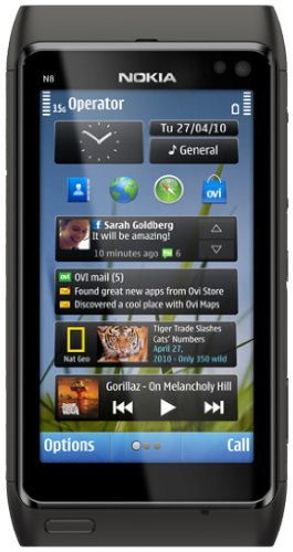 Nokia N8 Smartphone (12 MP Carl-Zeiss Kamera, Xenon Blitz, HDMI-Anschluss, Pinch-Zoom, Ovi Karten) dark grey