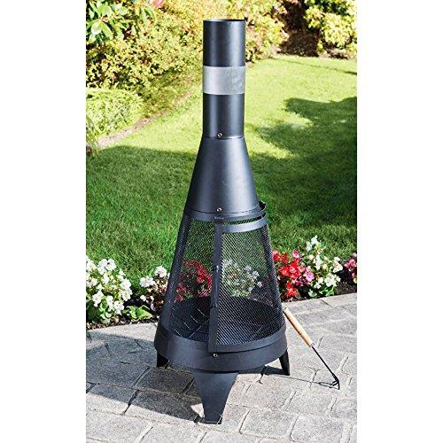 Terrassen-Kamin aus Stahl � 45 x 120 cm Terrassenofen Gartenkamin Feuerstelle Kamin