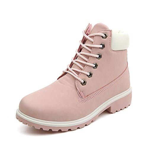 Damen Worker Boots Winterstiefel warme Stiefel Sch�ne Prinzessin Rosa