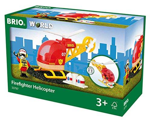 BRIO 33797 - Feuerwehr Hubschrauber, bunt