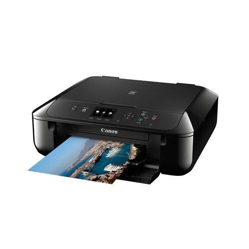 Canon Pixma MG5750 Farbtintenstrahl-Multifunktionsger�t (Drucken, Scannen, Kopieren, 5 separate Tinten, WLAN, Print App, Duplex, 4.800 x 1.200 dpi) schwarz
