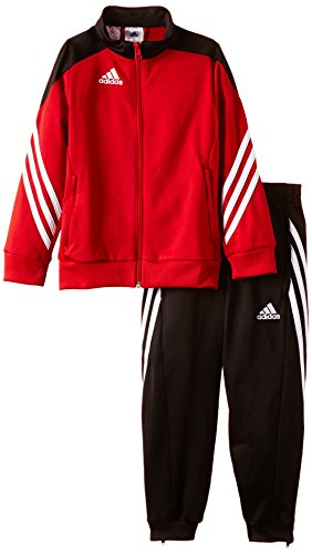 adidas Unisex - Kinder Trainingsanzug Sereno14, Top:university red/black/white Bottom:black/white, 140, D82933