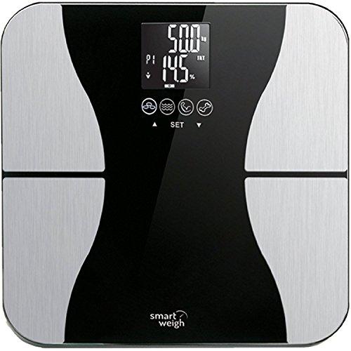 Smart Weigh Ultraschmale sbs500�die digitale Pr�zisionswaage von K�rperfett-mit Glasplatte