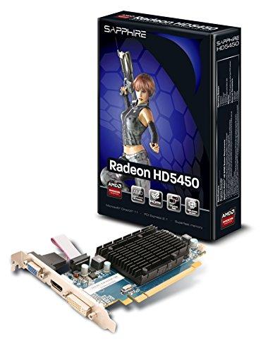 Sapphire ATI Radeon HD5450 Grafikkarte (PCI-e, 1GB DDR3 Speicher, HDMI, DVI, VGA, 1 GPU)