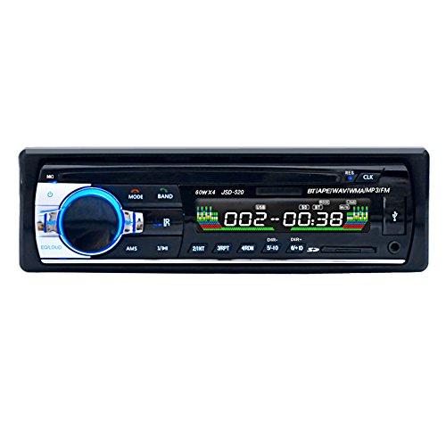 GEEDIAR Autoradio mit Bluetooth Freisprecheinrichtung und Abspielfunktion f�r Smartphone,Handy,MP3-Player,USB Anschluss und SD Kartenslot,4x 60Watt,Aux-Eingang (KT-6203 Schwarz)