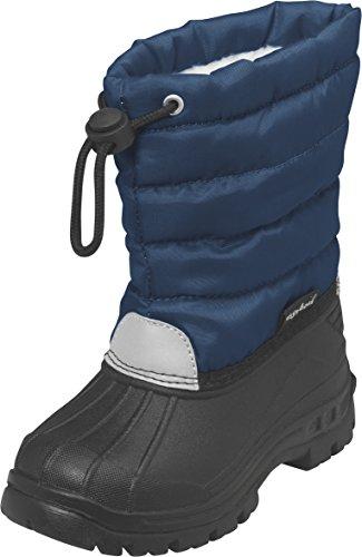 Playshoes Winterstiefel, Moonboots, Schneeschuhe f�r Kinder, mit Warmfutter, Jungen Schneestiefel, Blau (11 marine), 26/27 EU