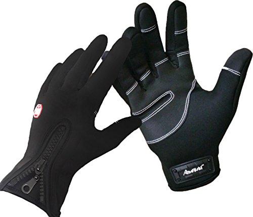 ADS Herren Fahrradhandschuhe, fur den Winter, Touchscreen-kompatibel (L)