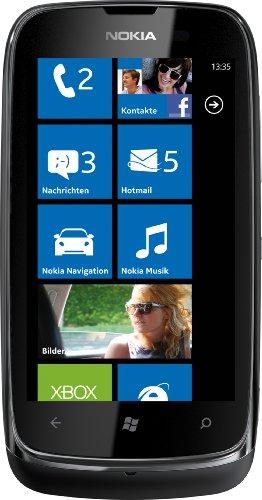 Nokia Lumia 610 Smartphone (9,4 cm (3.7 Zoll) Touchscreen, 5 Megapixel Kamera, Windows Phone Mango OS) schwarz