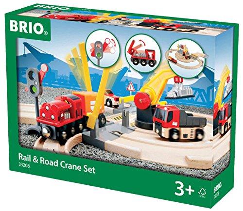 Brio 33208 - Stra�en und Schienen Kran Set
